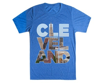 CLEVELAND T-shirt in Vintage Blue