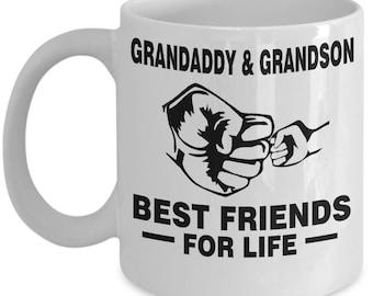 Grandaddy and Grandson Best Friends For Life Mug - Grandaddy and Grandson Mug - Grandaddy and Grandson Coffee Mug