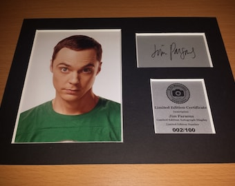 The Big Bang Theory - Sheldon Cooper - Jim Parsons - Signed Autograph Display - Fully Mounted and Ready To Be Framed