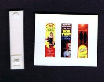 1:25 G scale model resin condom vending machine