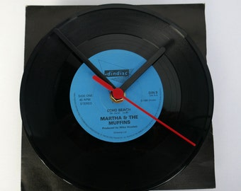 "Martha & The Muffins - Echo Beach 7"" Record Clock"