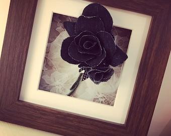 Denim Rose Wall Art Gift Christmas