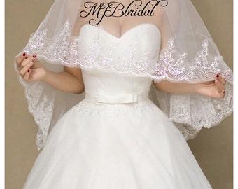 Waltz VeilWedding Veil Bridal Mantilla Traditional Wedding