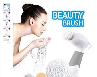 3-in-1 Electric Facial Cleansing Brush Set Soft Scrubber Face Body