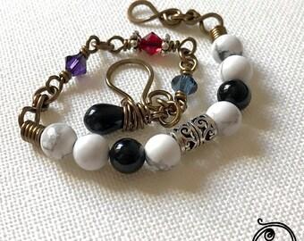 Pierrot bracelet with Swarovski crystals