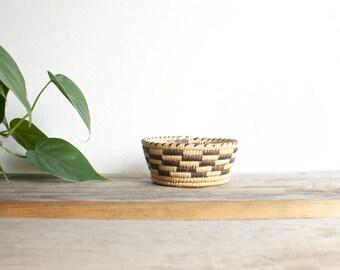 vintage woven bowl