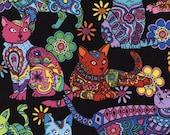 Cat Coloring - Custom Made Scrub Tops Nursing Uniforms