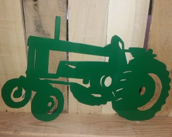 Steel Tractor Painted Green