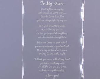 Personalized Mom Poem Acrylic Keepsake Custom Name Gift