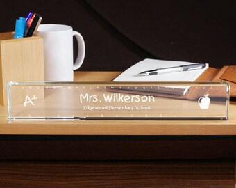 Personalized Teacher Name Plate Custom Name Gift