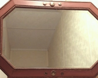 Shabby chic/Vintage/Retro heavy oak mirror