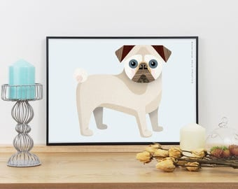 Pug Dog Graphic Print