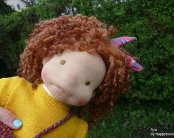 Ava, waldorf inspired doll43 cm (17 inch)OOAK, felted doll, natural waldorf doll