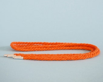 Reclaimed rope shoelaces - Pumpkin - FREE SHIPPING