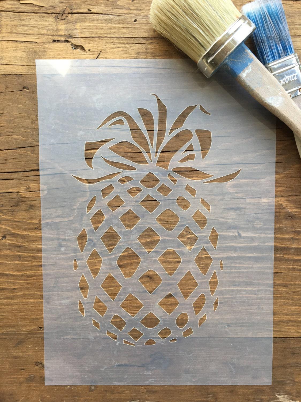 pineapple stencil fruit stencil tropical fruit stencil