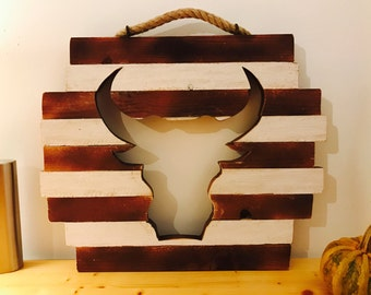 Bull Figure Rustic Country Wall Decor