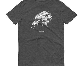 Hong Kong Shirt, Hong Kong, Hong Kong TShirt, Hong Kong Gift, Hong Kong Tee, Hong Kong Map, Hong Kong Art, Victoria Peak, Kowloon