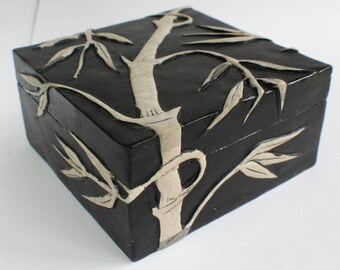 Stone Box Bamboo Box Stone Box Soapstone Jewelry Box