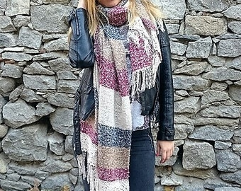 Blanket scarf, chunky scarf, womens scarf, winter scarf, scarves, long scarf, blanket scarves, christmas gift, winter scarf for women