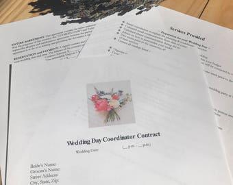 Wedding Coordinator Contract