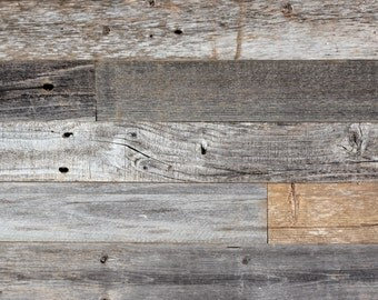 DIY Reclaimed Barn Wood Wall - Easy Peel and Stick Application, 10 sq. ft.