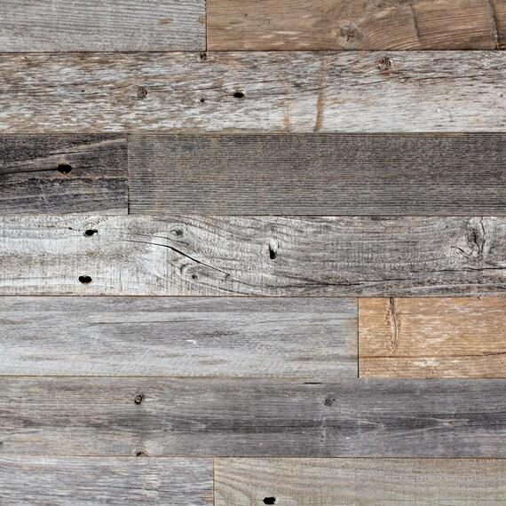 Diy Reclaimed Barn Wood Wall Easy Peel And Stick