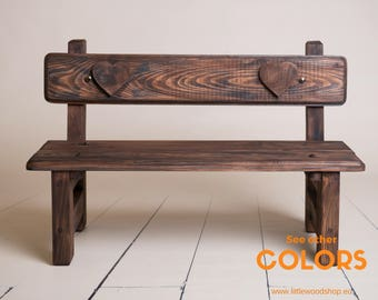 Wooden Bench Photography Prop, Newborn Baby Toddler Photographer, Ideal For Outdoor Photo Shoots, Wood Park Bench Photo Prop, COLORS