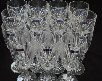 Waterford Crystal Glasses Marquis Brookside Set Lot 15 New Old Stock AMAZING!