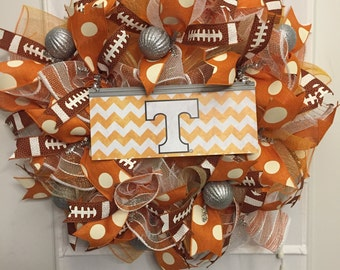 TENNESSEE Wreath, college football, football Wreath, Vols Wreath, Tennesee Vols, college wreath
