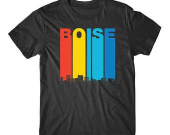 Vintage 1970's Style Boise Idaho Skyline T-Shirt