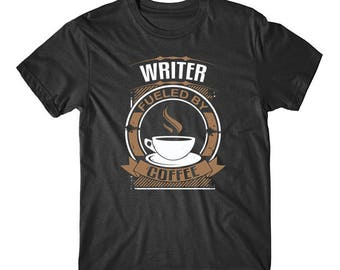 Writer Fueled By Coffee Funny Writing Graphic T-Shirt