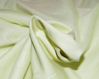 Canary Yellow Cotton Stretch Voile Fabric 54W