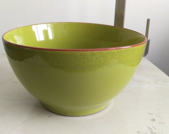 Small 10in Lime Green Modern Contemporary Ceramic Porcelain Bathroom Vessel  Sink