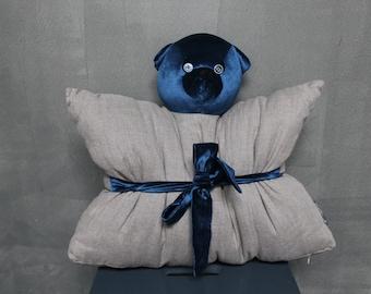 Pillow-toy Bear linen