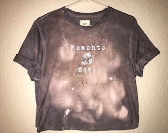 Memento Mori on a faded Grey Shirt