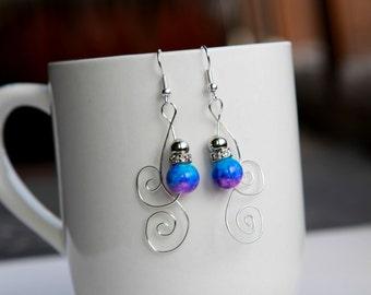 Galaxy Marble Swirl Earrings