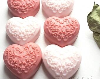 Heart Glycerin Soap/Wedding Favor/Heart Soap/Guest Soap