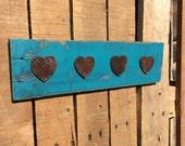 Rustic Wooden Heart Decor // Newlywed Gift // Anniversary // Housewarming