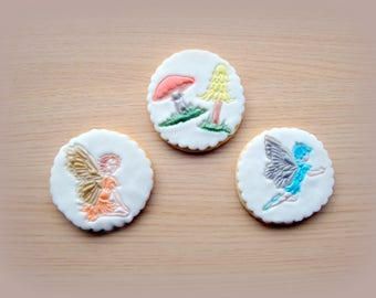Fairy & toadstool biscuits