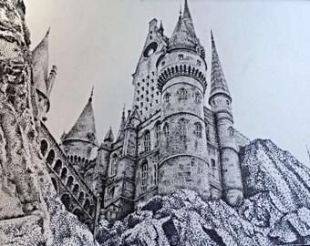 Hogwarts - Hand Drawn