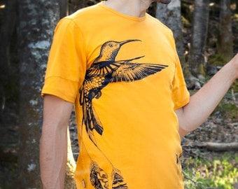 UNITY SHIRT, COLIBRI - 100% soft natural cotton t-shirt, Juan Carlos Taminchi, hummingbird, ayahuasca, medecine clothing, ceremony wear,
