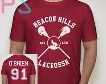 Dylan Obrien Shirt Beacon Hills Lacrosse Tshirt Unisex Size