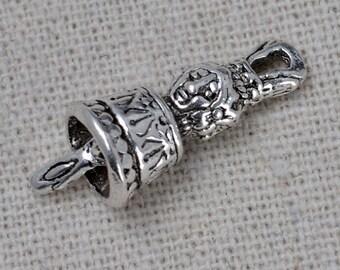 20pcs-Tibetan silver antiqued flower beads findings,Tibet dorje bells,Factory Wholesale ,Low Price,ET1916