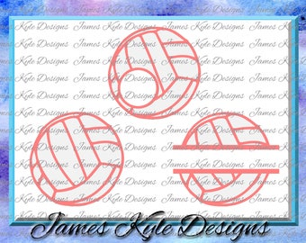 Volleyball SVG, Volleyball Frames SVG, Volleyball Monogram SVG, Volleyball Split Svg, Silhouette Cut Files, Cricut Svg