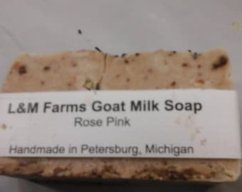 To see e pink goat milk soap