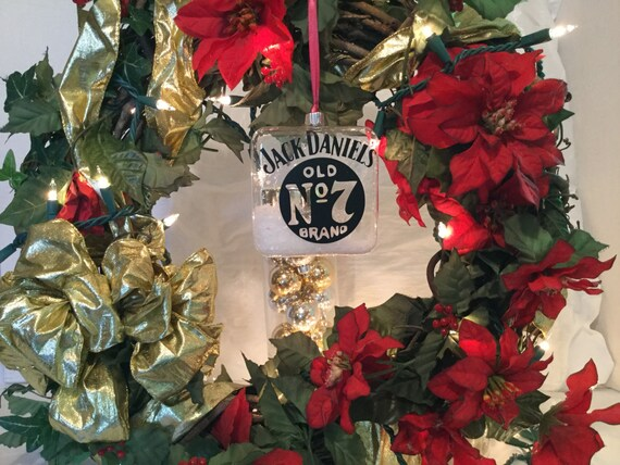 Old No 7 Christmas Ornaments-Whiskey Flask Christmas Ornaments-Christmas decoration-jack daniels Christmas ornament-Christmas gifts under 10