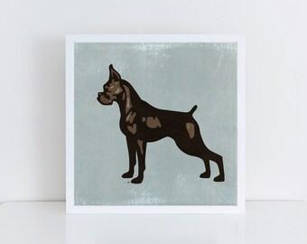 Boxer Dog Print, Boxer Dog Poster, Boxer Dog Art, Boxer Art Print, Boxer Dog Illustration, Boxer Print, Boxer Art, Boxer Poster, Dog Art
