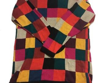 Vintage 1980's Oversized Patterned Sweater