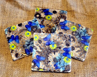 Flower Natural Stone Coaster