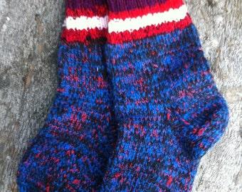 Blue socks, traditional socks, knitted socks, handknitted socks, women socks, home socks, socks, mother's day gift, women gift, gift for her